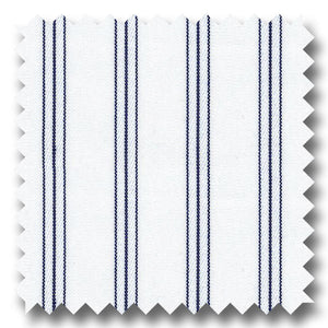 Navy Stripe Stretch Broadcloth - Custom Dress Shirt
