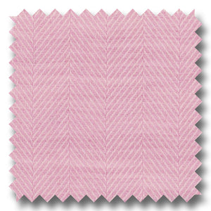 Pink Herringbone - Custom Dress Shirt