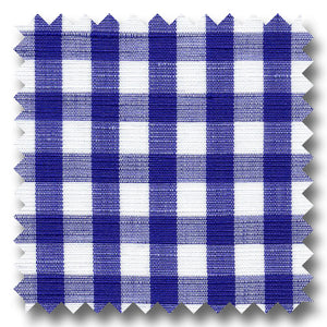 Navy Check Cotton and Linen Blend - Custom Dress Shirt