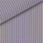 Brown / Navy Check Pinpoint Oxford Dress Shirt
