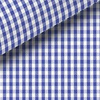 BLUE CHECK TWILL DRESS SHIRT