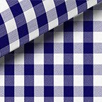 NAVY CHECK TWILL DRESS SHIRT