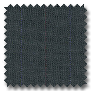 Navy with Multi Color Stripe Super 130s Merino Wool