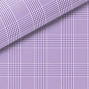 Purple Check Pinpoint Oxford Dress Shirt