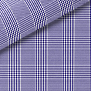 Navy Check Pinpoint Oxford Dress Shirt