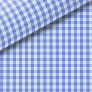 Blue Check Pinpoint Oxford Dress Shirt