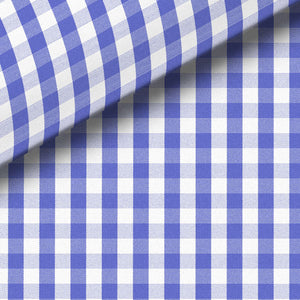 Blue Check Broadcloth Dress Shirt