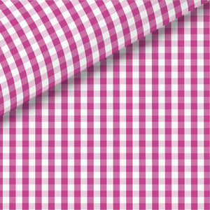 Dark Pink Check Broadcloth Dress Shirt