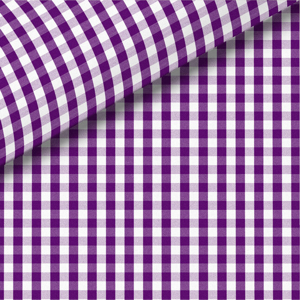 Purple Check Broadcloth Dress Shirt