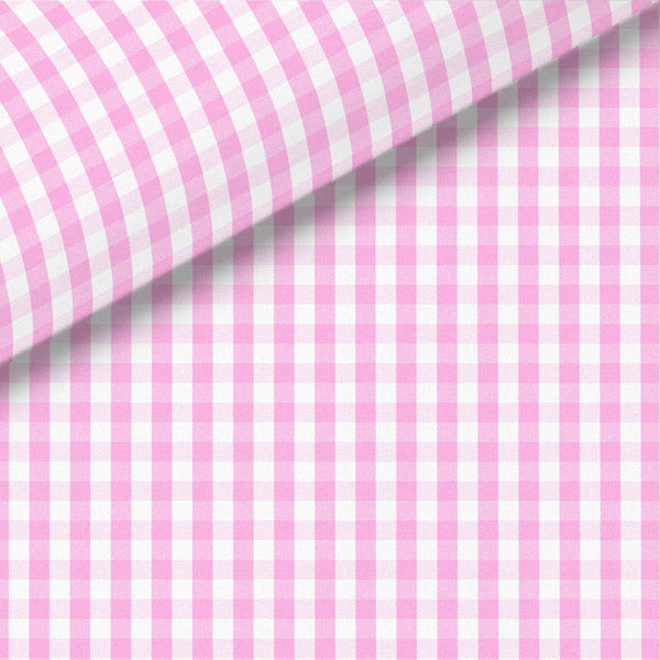 Pink Check Broadcloth Dress Shirt