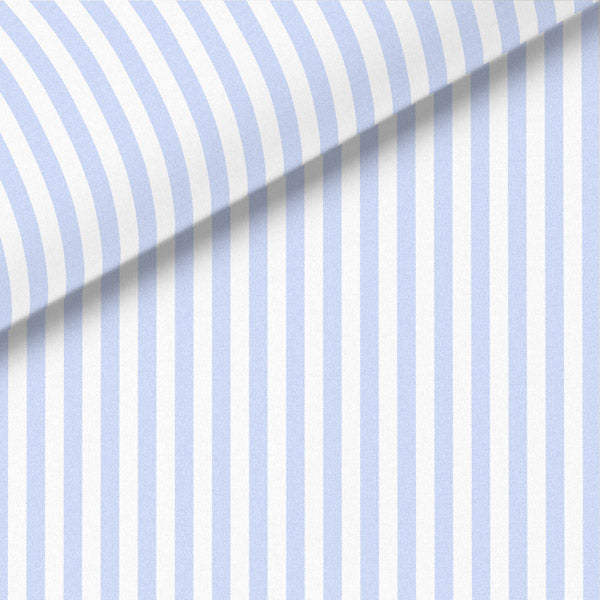 Pale Blue Stripe Broadcloth Dress Shirt