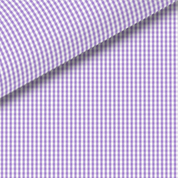 Lavender Check Broadcloth Dress Shirt