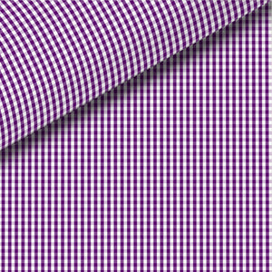 Plum Check Broadcloth Dress Shirt