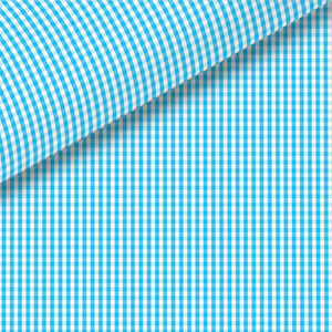 Aqua Check Broadcloth Dress Shirt