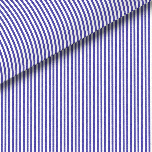 Dark Blue Stripe Broadcloth Dress Shirt