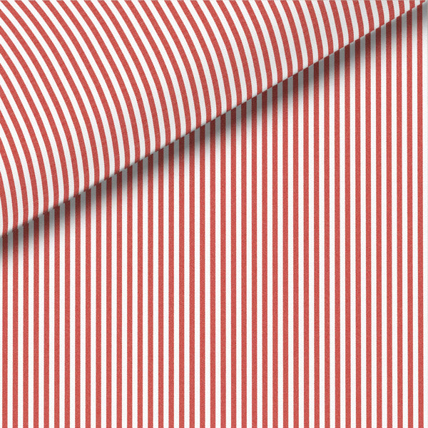 Red Stripe Broadcloth Dress Shirt