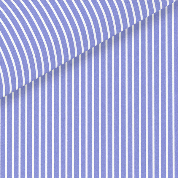 Blue Stripe Broadcloth Dress Shirt