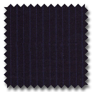 Midnight Blue Stripes 100% Wool
