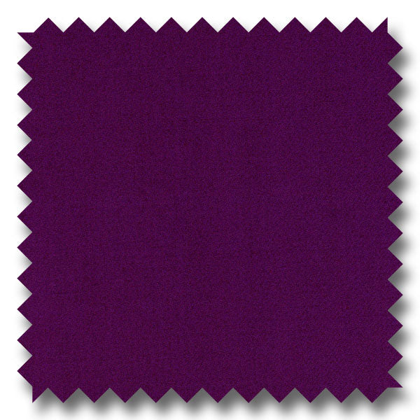 Solid Dark Purple Gabardine