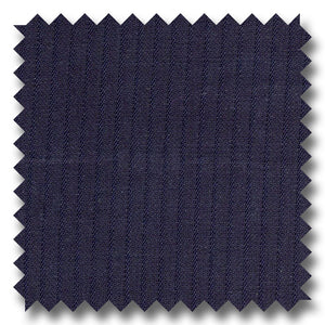 Midnight Blue Self Stripes 100% Wool