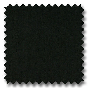 Solid Black Gabardine