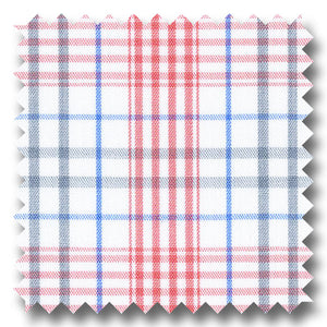 Pink, Gray and Blue Prince of Wales Checks Broadcloth - Custom Dress Shirt