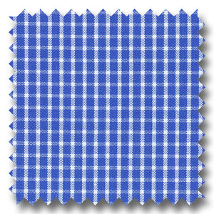Dark Blue Mini Grid Gingham Check Broadcloth - Custom Dress Shirt