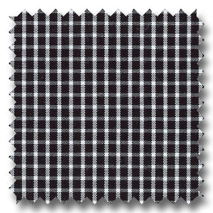 Black Mini Grid Gingham Check Broadcloth - Custom Dress Shirt