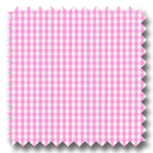 Pink Mini Gingham Check Broadcloth - Custom Dress Shirt
