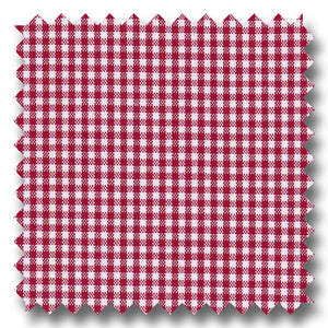 Red Mini Gingham Check Broadcloth - Custom Dress Shirt