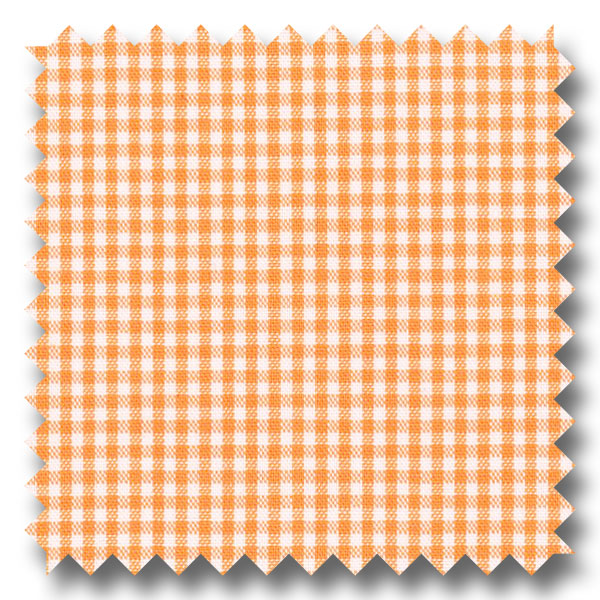 Orange Mini Gingham Check Broadcloth - Custom Dress Shirt