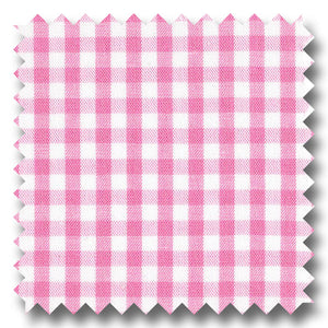 Pink Gingham Check Broadcloth - Custom Dress Shirt