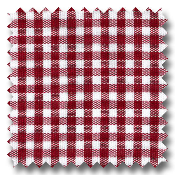 Red Gingham Check Broadcloth - Custom Dress Shirt
