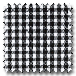 Black Gingham Check Broadcloth - Custom Dress Shirt