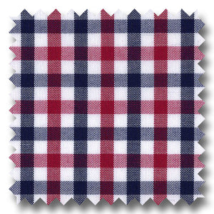 Black and Red Gingham Check Broadcloth - Custom Dress Shirt
