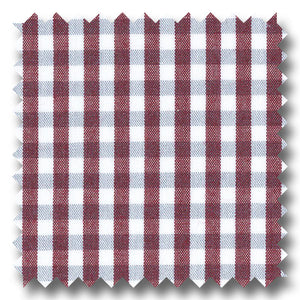 Wine & Gray Gingham Check Broadcloth - Custom Dress Shirt
