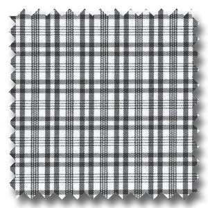 Black Grid Check Broadcloth - Custom Dress Shirt
