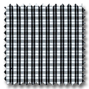 Black Mini Grid Check Pinpoint - Custom Dress Shirt