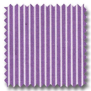 Purple Stripe Pinpoint Blend - Custom Dress Shirt