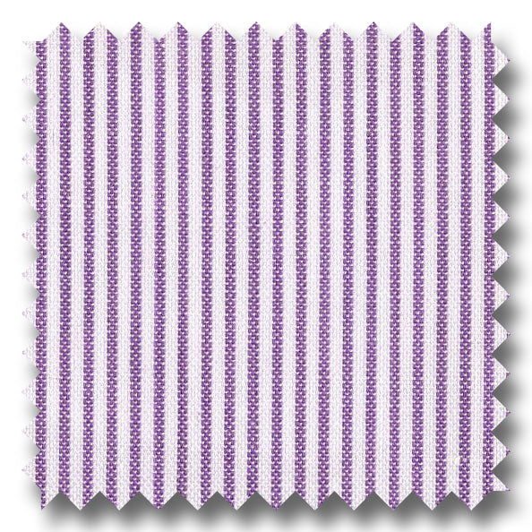 Lavender Stripe Pinpoint Blend - Custom Dress Shirt