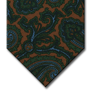Tan with Green and Navy Paisley Tie