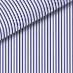 Navy Blue Stripe Dress Shirt