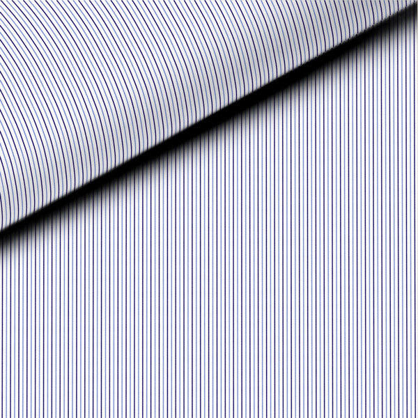 Blue and Black Stripe Meander 71 Broadcloth Dress Shirt