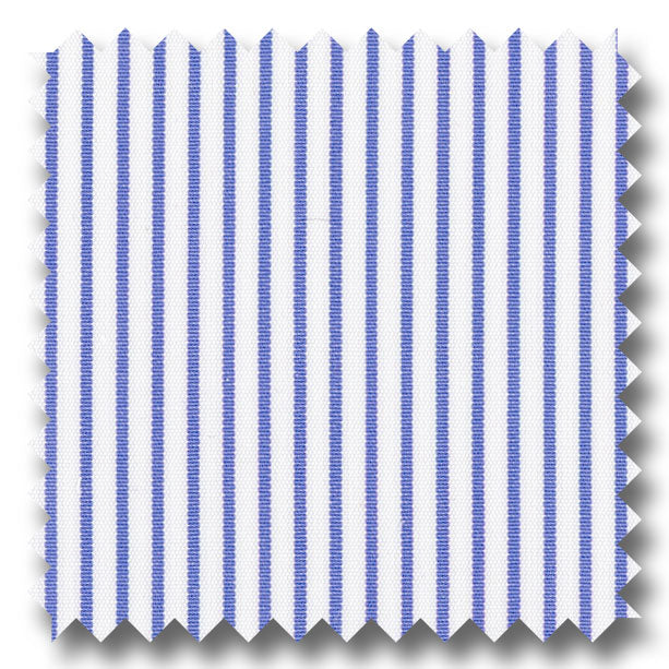 Blue Stripe 2Ply Broadcloth - Custom Dress Shirt