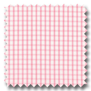 Pink Check 2Ply Broadcloth - Custom Dress Shirt