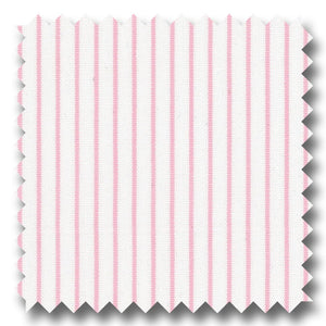 Pink Stripe 2Ply Broadcloth - Custom Dress Shirt