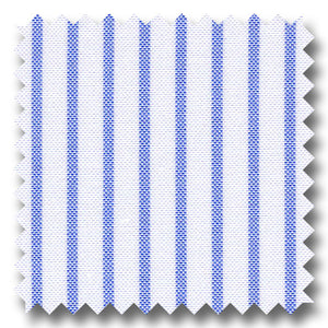 Light Blue Stripe 2Ply Pinpoint - Custom Dress Shirt