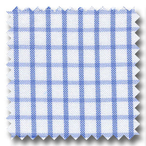 Light Blue Check 2Ply Pinpoint - Custom Dress Shirt