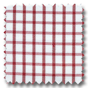 Red Check 2Ply Pinpoint - Custom Dress Shirt