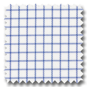 Blue Check 2Ply Twill - Custom Dress Shirt